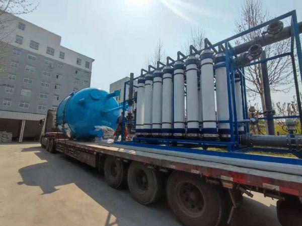 【瀚高中联】河南焦作生活用水80吨超滤发货