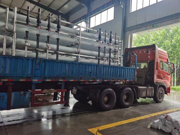 【瀚高中联】30T双级反渗透纯水设备发货现场